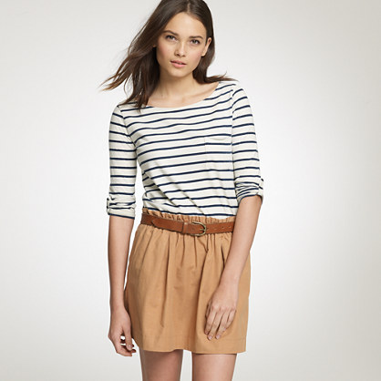 Indigo-stripe boatneck sailor tee