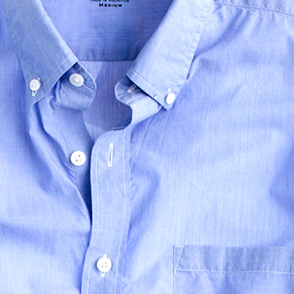 Secret Wash lightweight shirt in pinpoint stripe