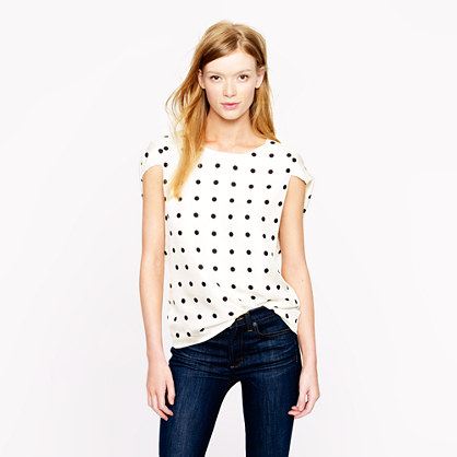 Collection silk dot top
