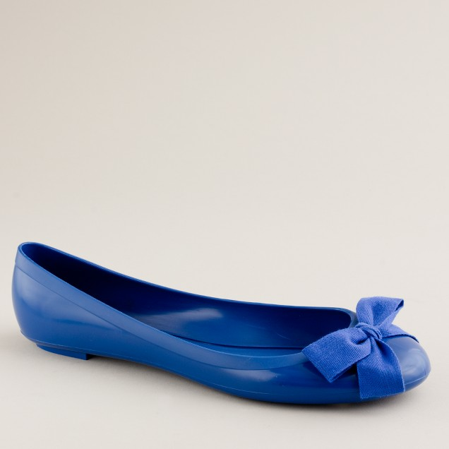 Rainy day bow ballet flats
