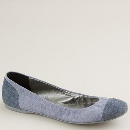 Blue jean ballet flats