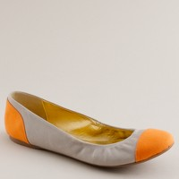 Cece leather and canvas ballet flats