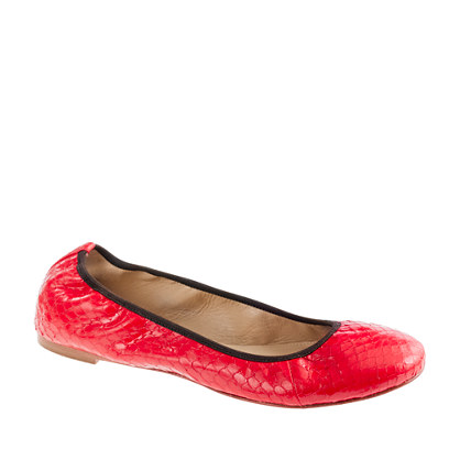 Collection Lula snakeskin ballet flats