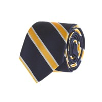 Stripe silk tie in classic navy