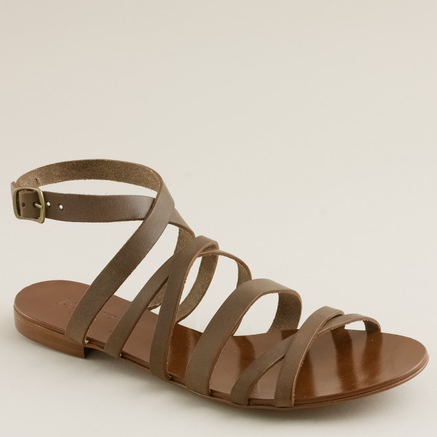 Deseree leather sandals