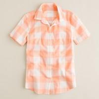 Gingham vintage schoolboy shirt
