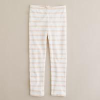 Girls' painter-stripe leggings
