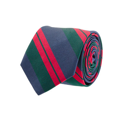 Regimental-stripe silk tie
