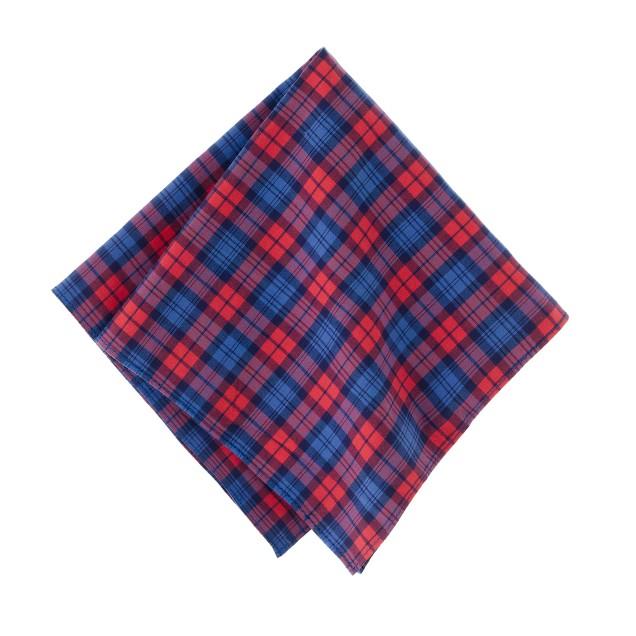 Tartan pocket square