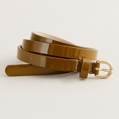 Superskinny patent belt
