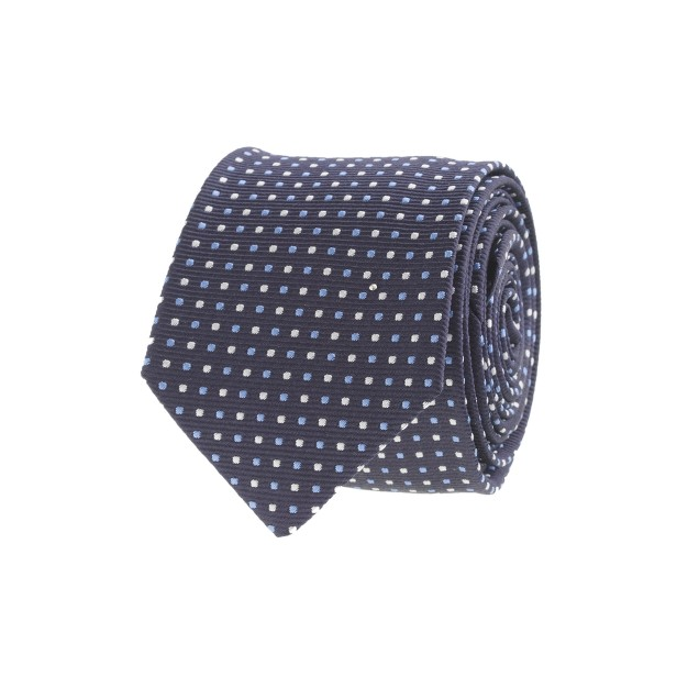 Multi-dot silk tie