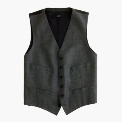 Ludlow suit vest in Italian worsted wool