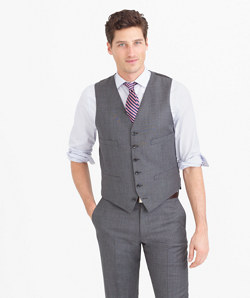 Ludlow suit vest in Italian worsted wool