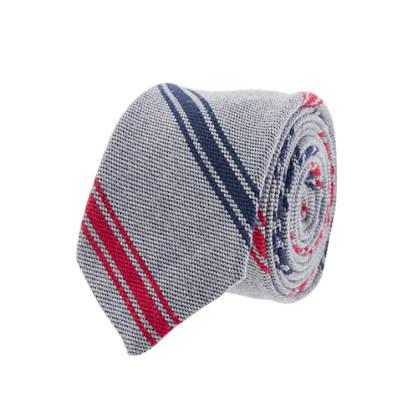 Thin-stripe wool tie
