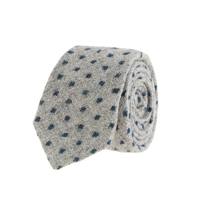 Dot wool tie in light gravel