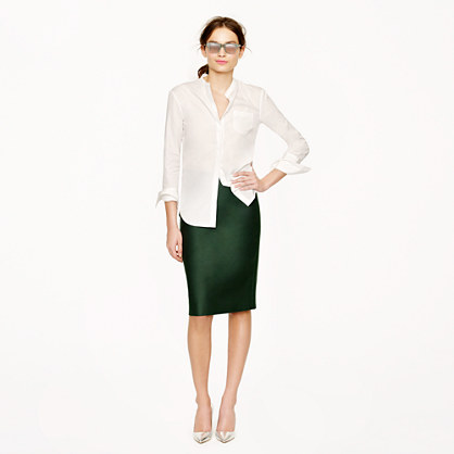 Petite No. 2 pencil skirt in double-serge cotton