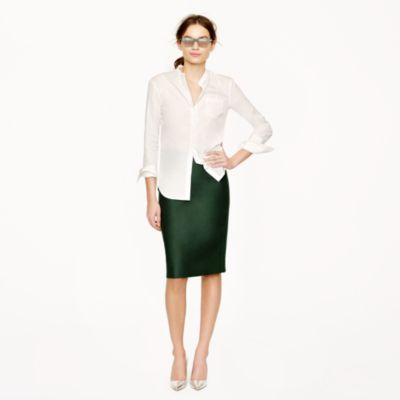 no 2 pencil skirt in serge cotton j crew
