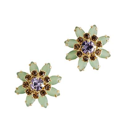 Flower lattice earrings