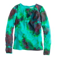 Chiffon top in hothouse floral
