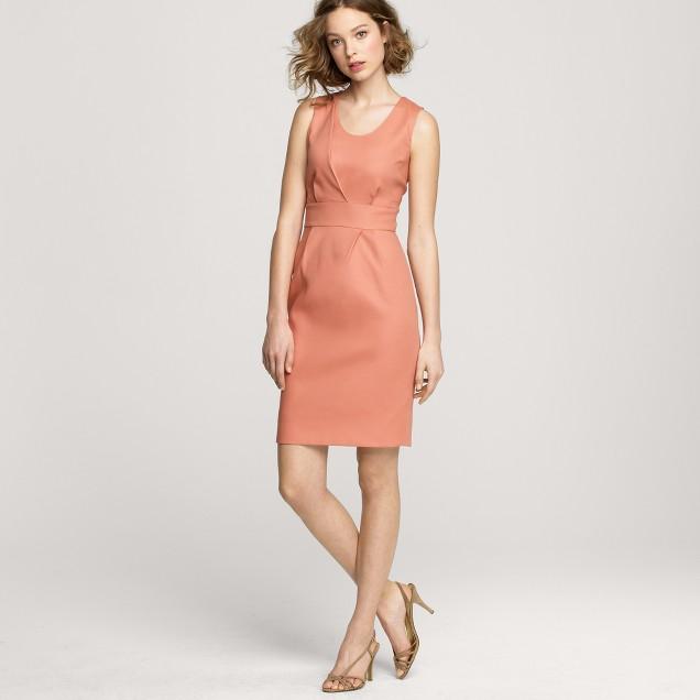 Boardroom dress in superfine cotton