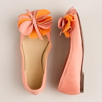 Girls' fleur de jour ballet flats