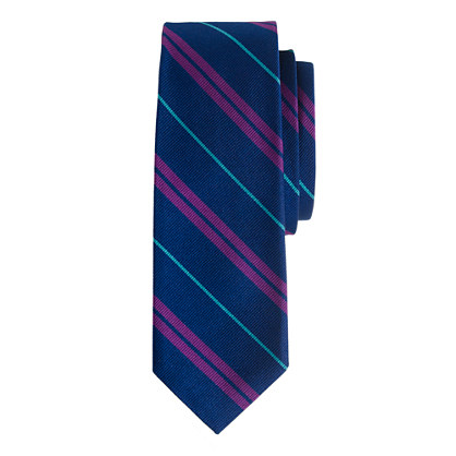 Silk tie in twilight stripe