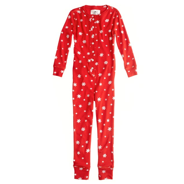 Girls' union suit in snowflake