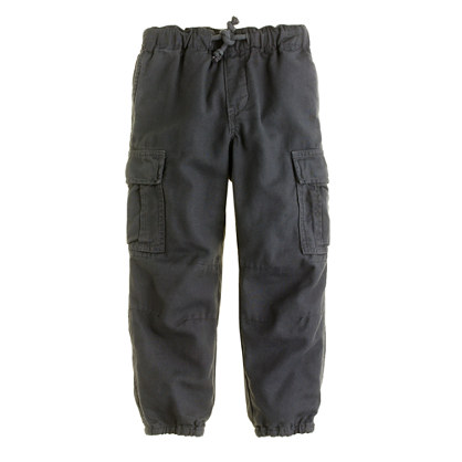 Boys' pull-on lightweight twill cargo pant