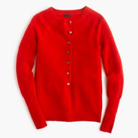 Italian cashmere waffle henley sweater