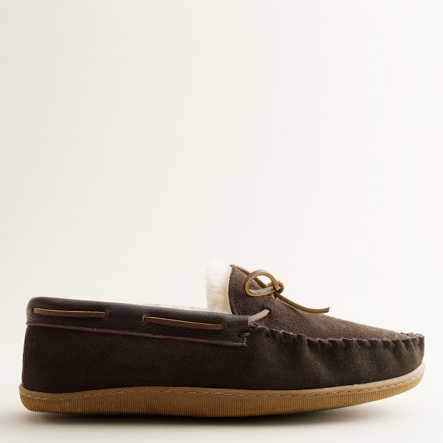 Shearling moccasin slippers j crew for J crew bedroom slippers