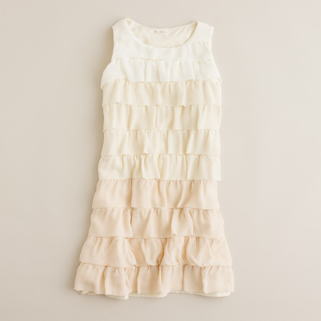 Girls' frappé dress