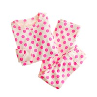 Girls' long-sleeve sleep set in polka dot