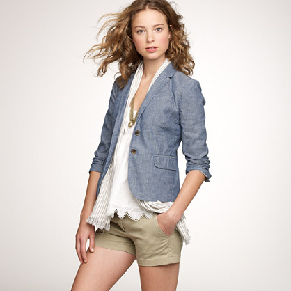 Schoolboy blazer in chambray