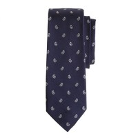 Silk tie in mini-paisley
