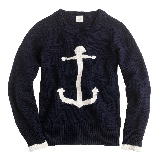 Boys' cotton anchor sweater