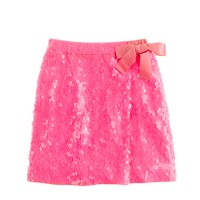 Girls' sequin faux-wrap skirt
