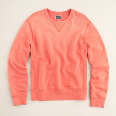 Sun-faded washed fleece crewneck sweatshirt : | J.Crew