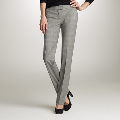 Martie trouser in glen plaid Italian wool