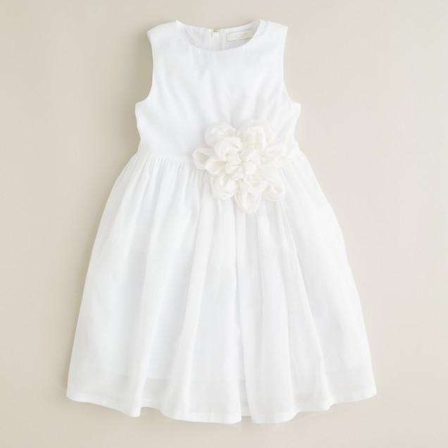 Girls' organdy Fiora dress