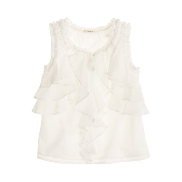 Girls' cotton voile flutter top