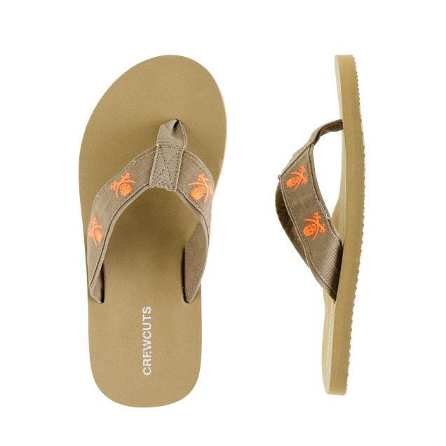 Boys' critter flip-flops
