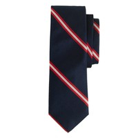 Silk tie in double stripe