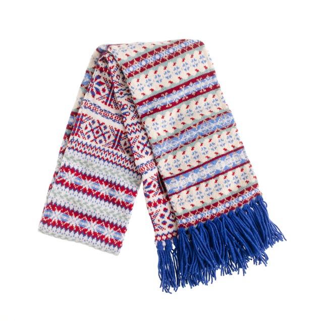 Drake's® Fair Isle scarf