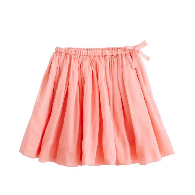 Girls' organdy flounce skirt