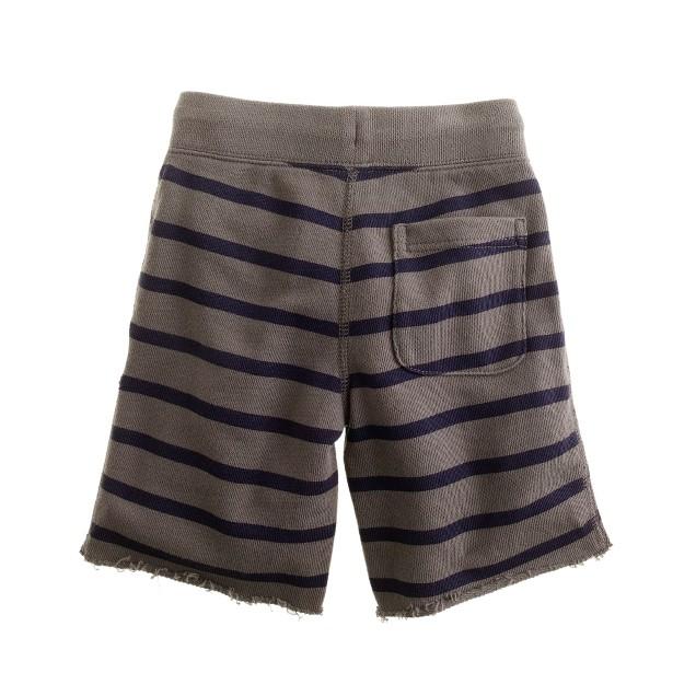 Boys' anchor stripe cutoff short