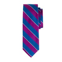 Silk tie in bold stripe