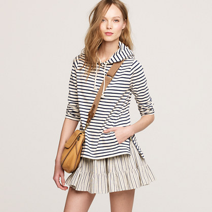 Maritime-stripe hoodie