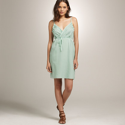 Thessaly beach dress in embossed silk and cotton