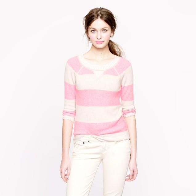 Collection cashmere plaited sweatshirt in stripe