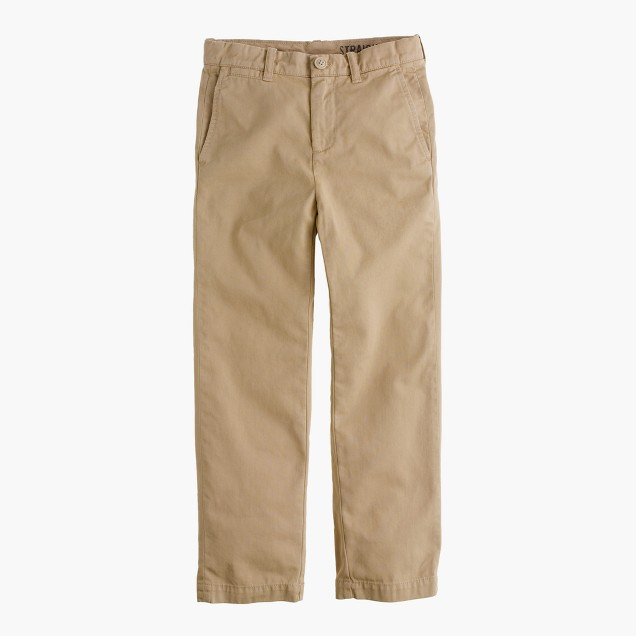Boys' garment-dyed chino pant in straight fit